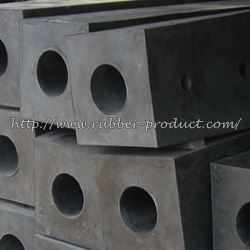 Square rubber fender